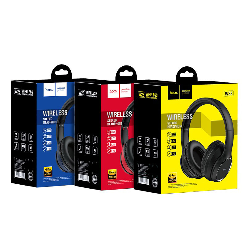 hoco w28 journey wireless headphones packages