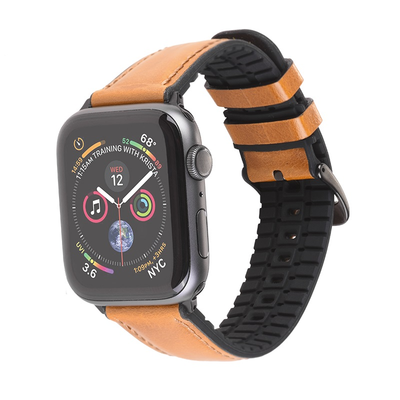 hoco wb18 fenix leather strap for apple watch band