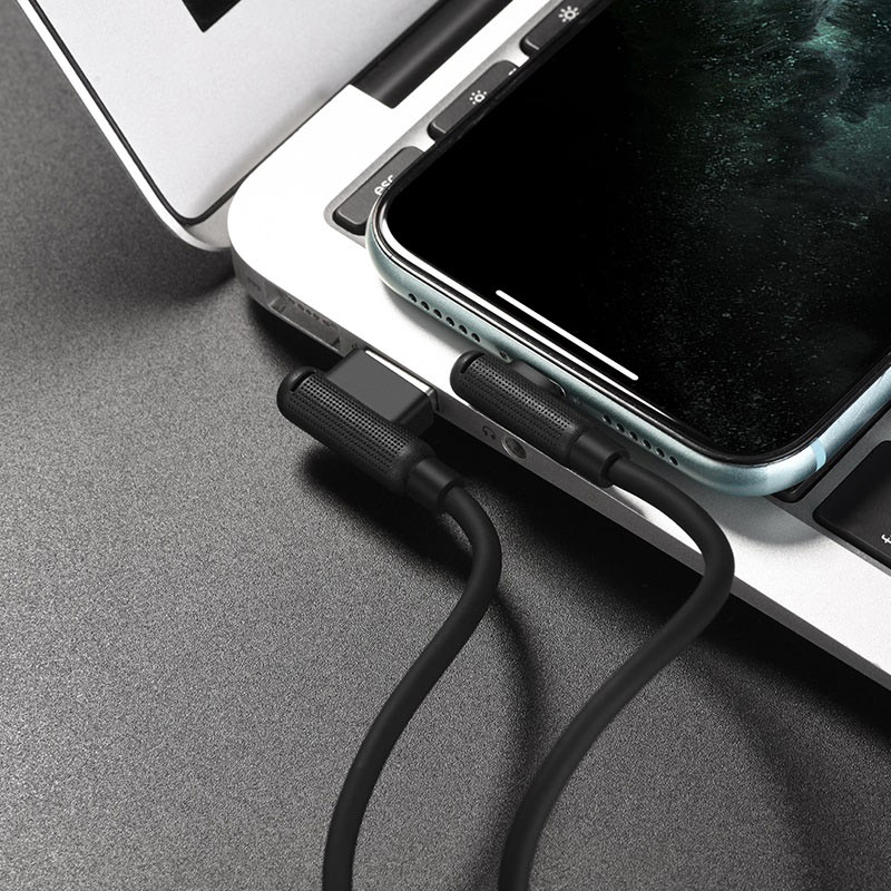 hoco x46 pleasure silicone charging data cable for lightning transfer