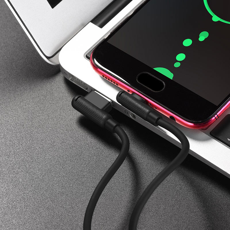 hoco x46 pleasure silicone charging data cable for micro usb transfer