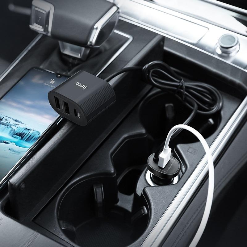 hoco z35 companheiro pd30 автомобильное зарядное устройство для переднего заднего сидений интерьер