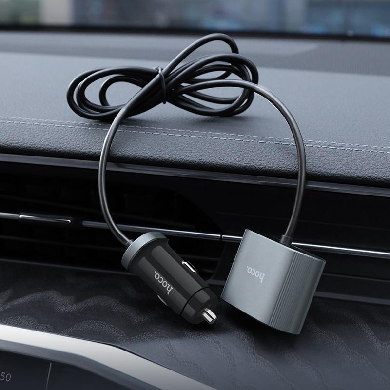 hoco z35 companheiro pd30 автомобильное зарядное устройство для переднего заднего сидений обзор
