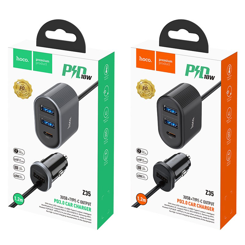 hoco z35 companheiro front rear seat pd30 car charger packages