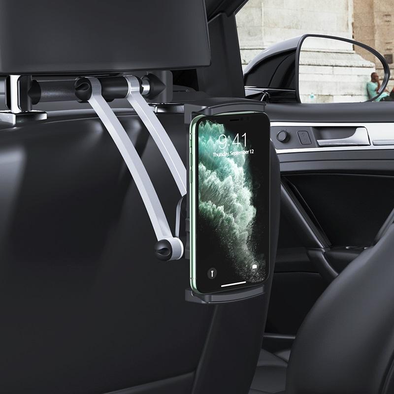 hoco ca62 handsome aluminum headrest in car holder interior phone