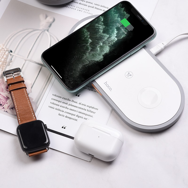 hoco cw24 handsome 3 in 1 wireless fast charger interior