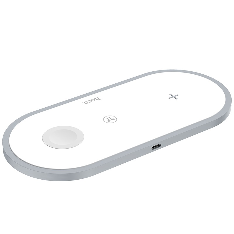 hoco cw24 handsome 3 in 1 wireless fast charger port