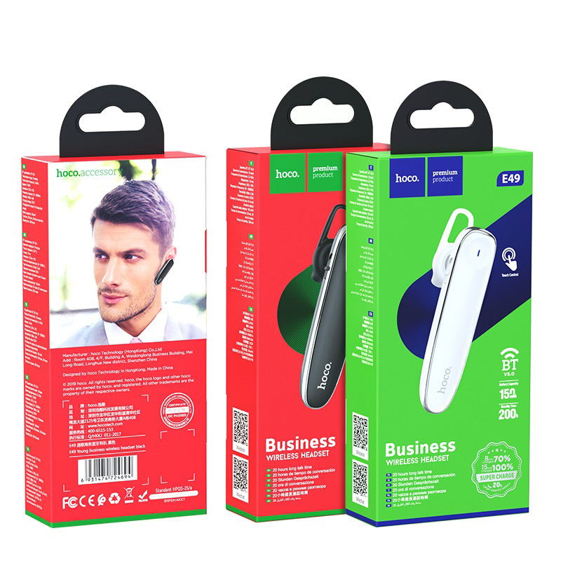hoco e49 young business wireless headset packages