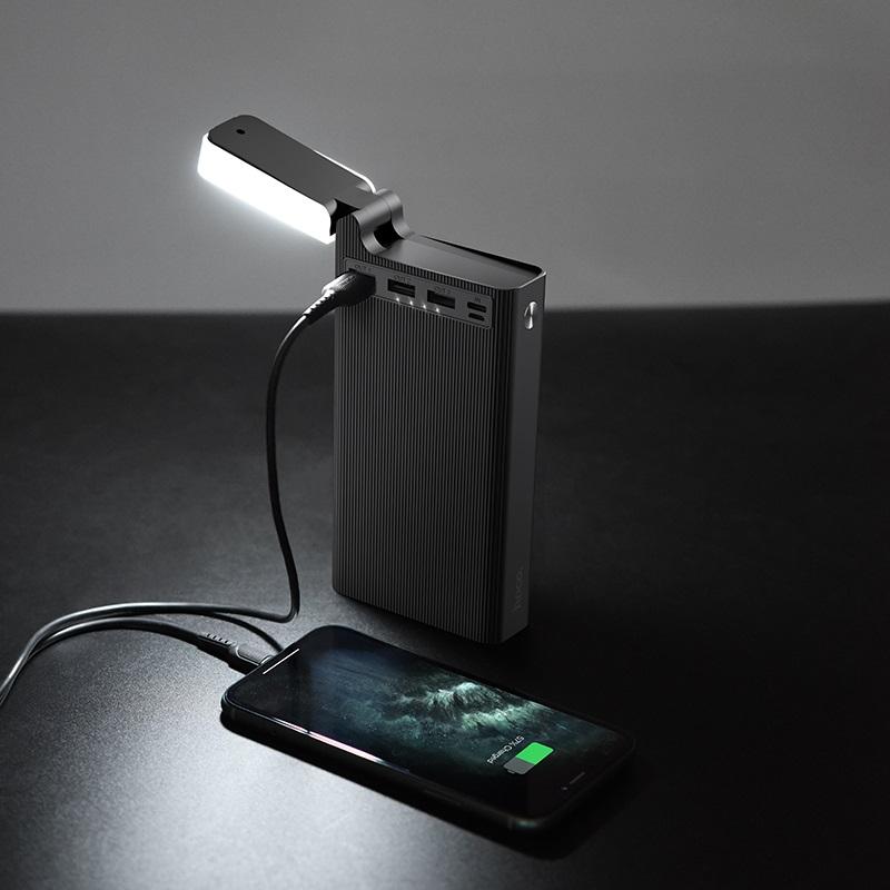 hoco j62 jove table lamp mobile power bank 30000mah interior black