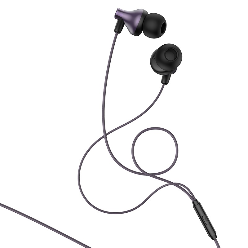 hoco m74 classic universal earphones with mic combination set front