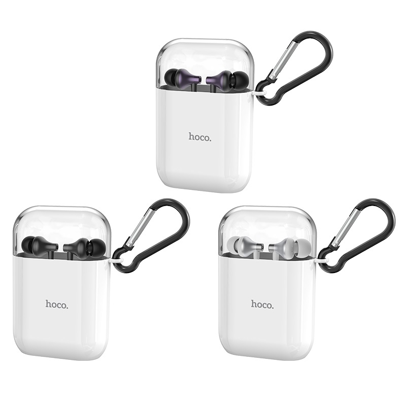 hoco m74 classic universal earphones with mic with storage box colors