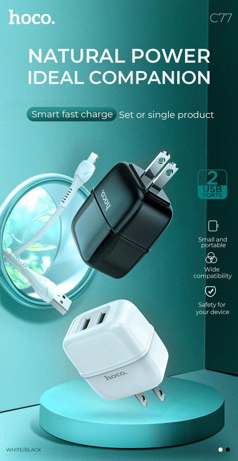 hoco news c77 highway dual port charger power en