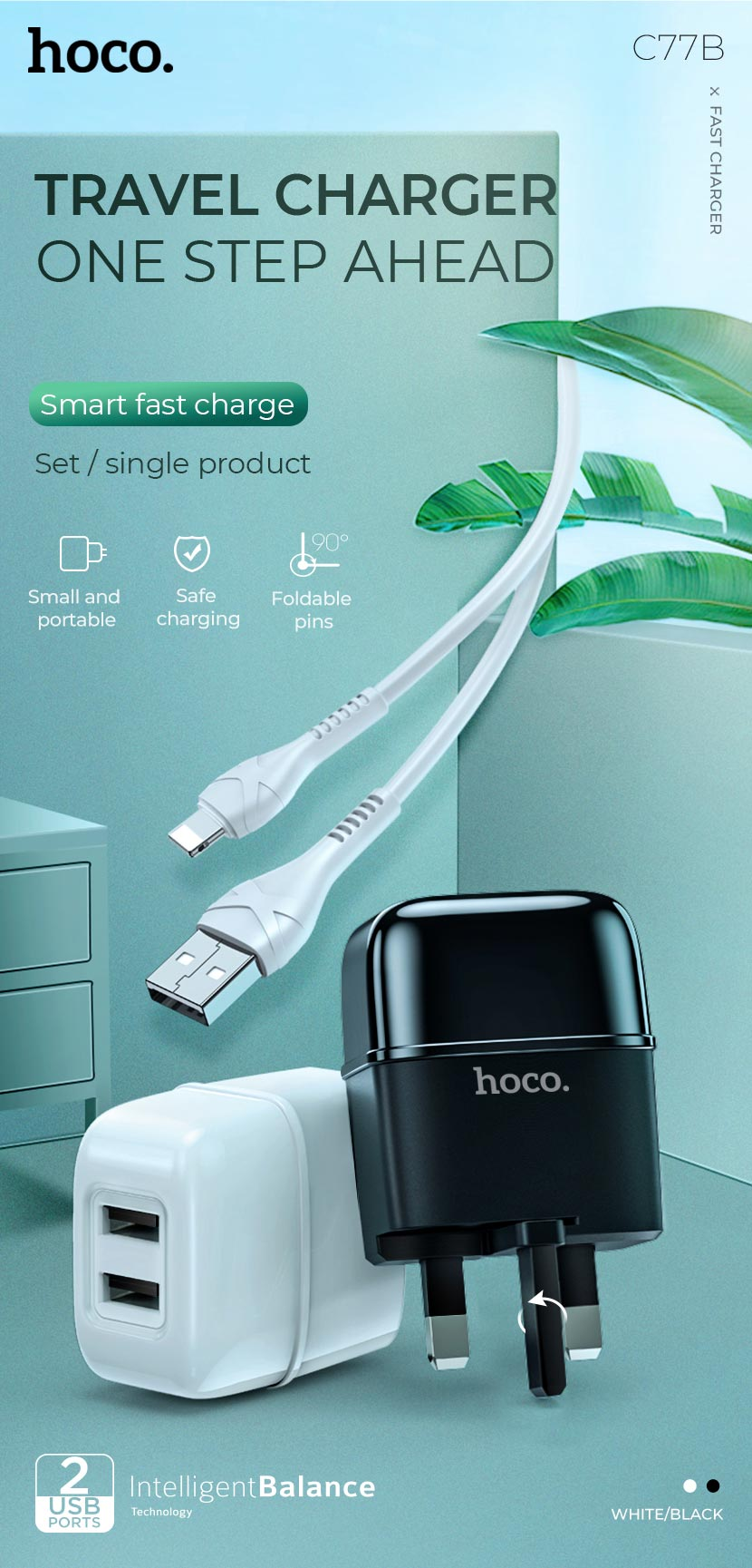 hoco news c77b highway dual port charger travel en