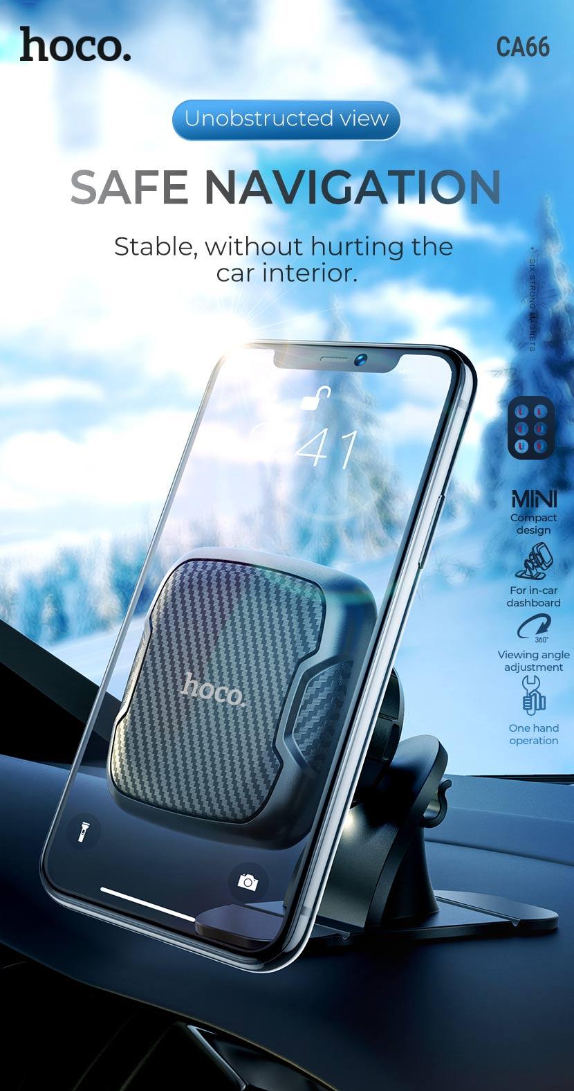 hoco news ca66 sagittarius series center console magnetic car holder en