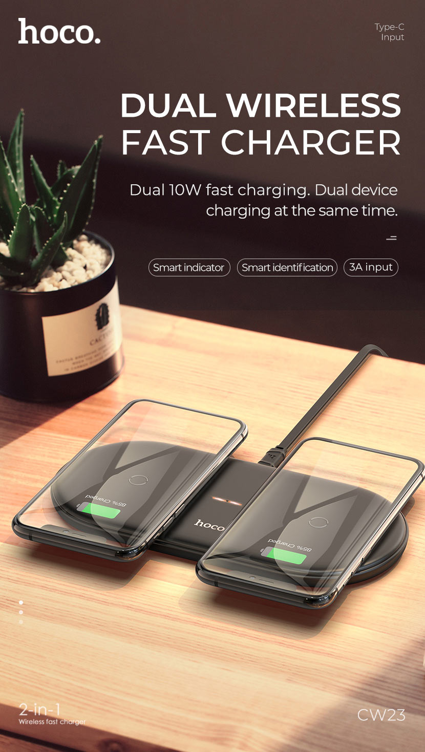 hoco news cw23 dual power wireless fast charger 10w en
