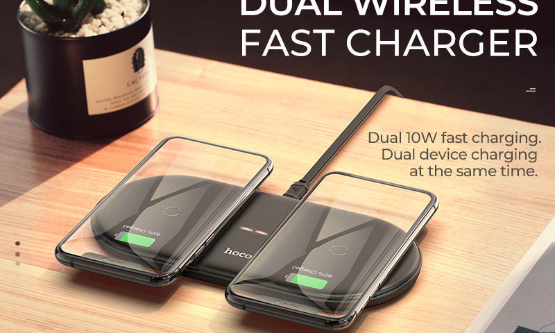 hoco news cw23 dual power wireless fast charger banner en