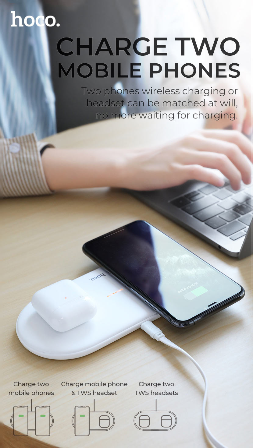 hoco news cw23 dual power wireless fast charger charge en