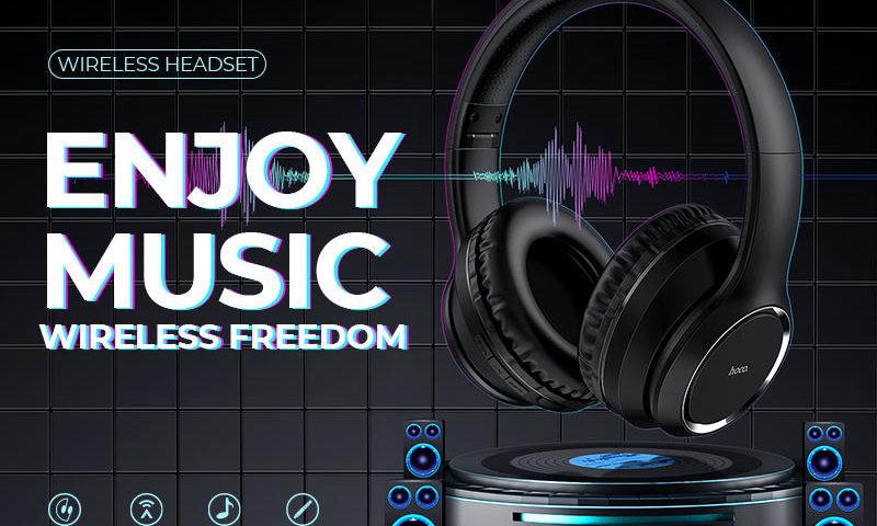 hoco news w28 journey wireless headphones banner en