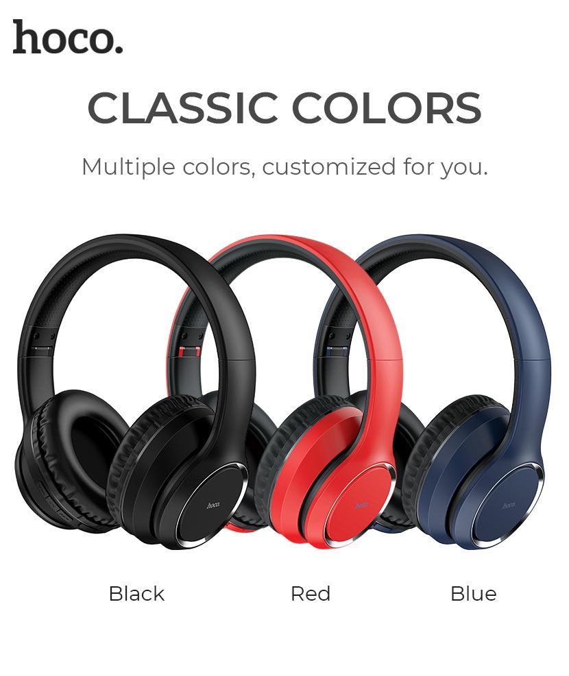 hoco news w28 journey wireless headphones colors en