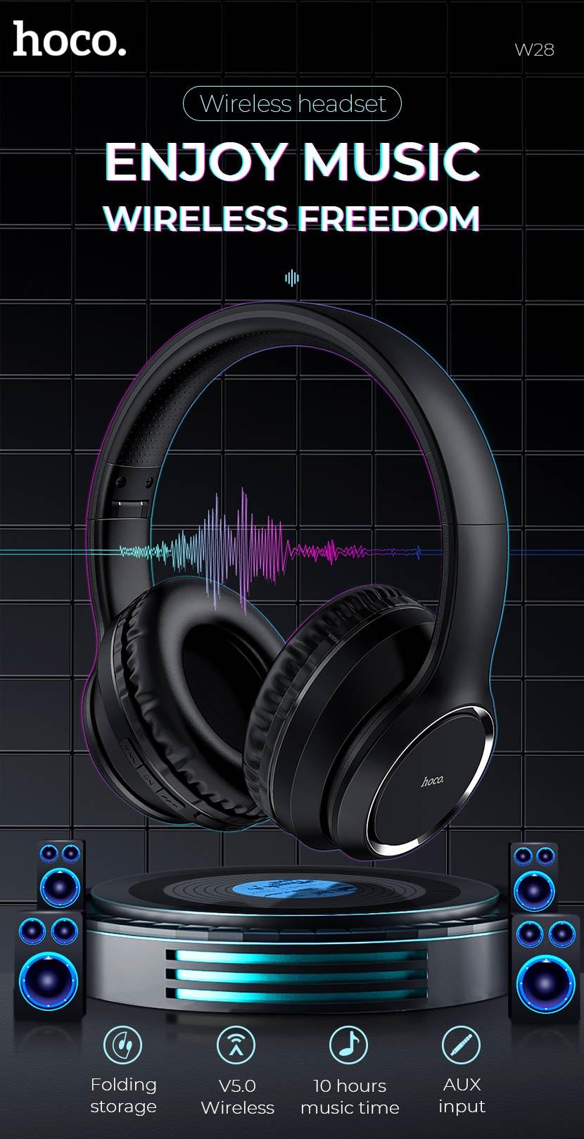 hoco news w28 journey wireless headphones freedom en