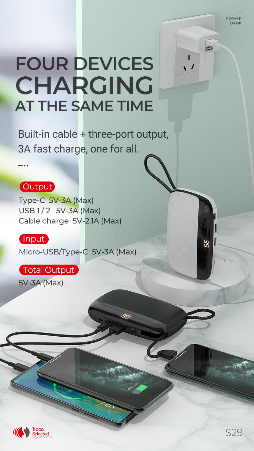 hoco selected news s29 nimble mobile power bank four en