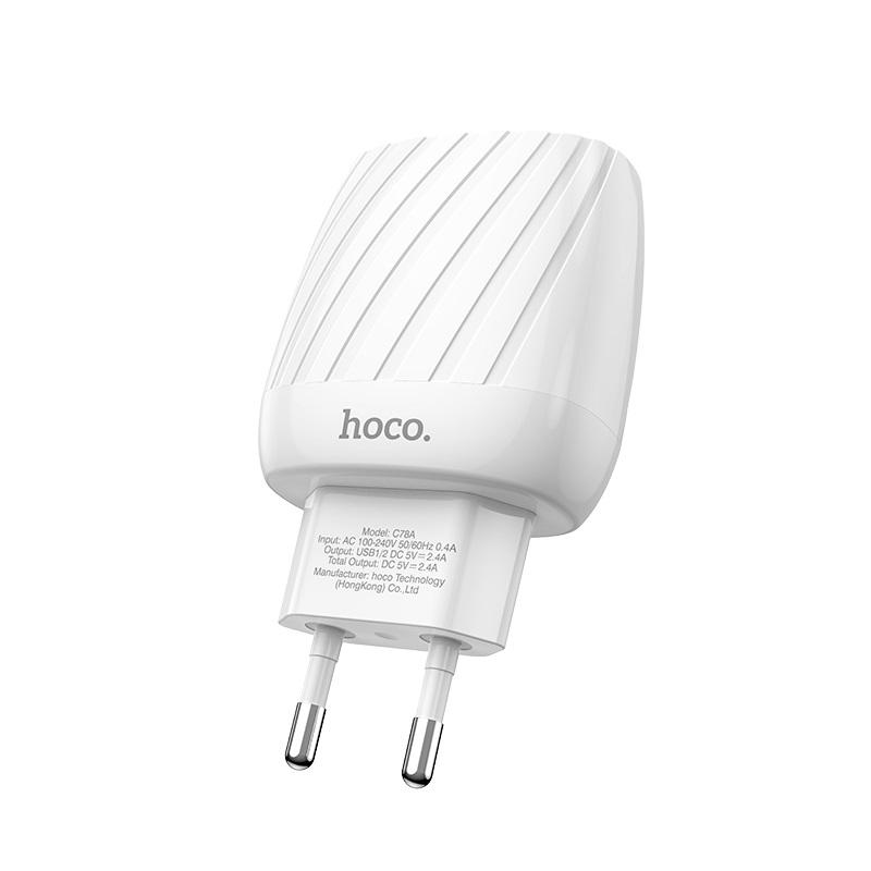 hoco c78a max energy зарядное устройство с двумя портами eu спецификация