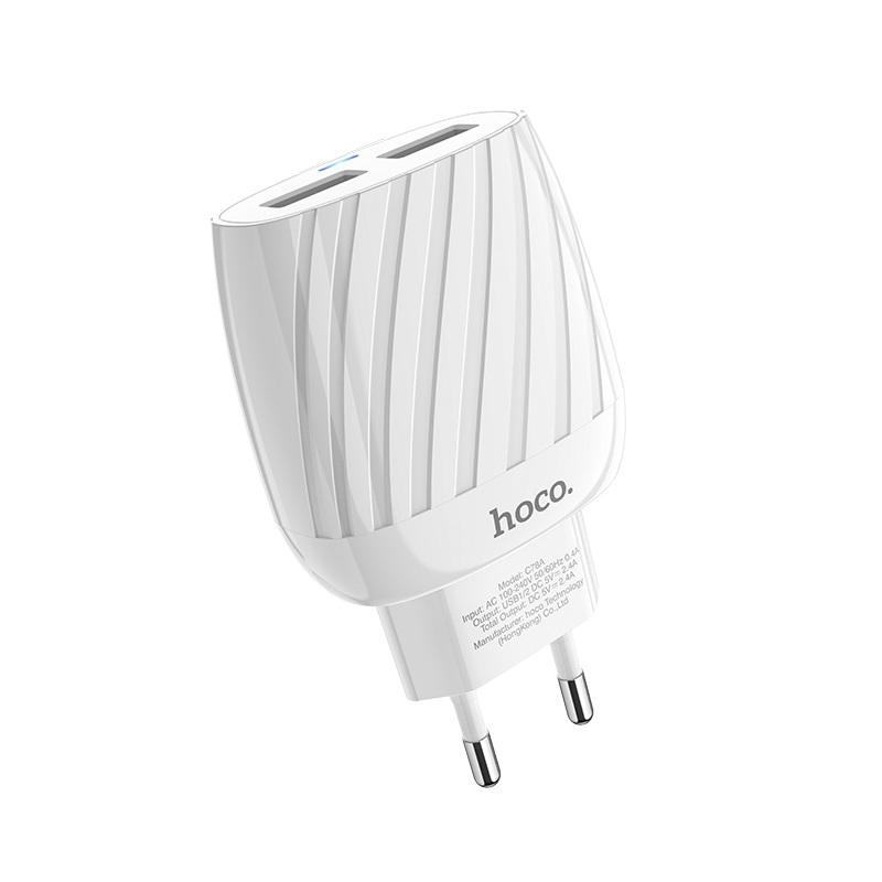 hoco c78a max energy зарядное устройство с двумя портами eu