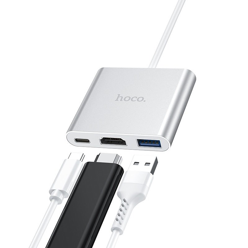 hoco hb14 easy use type c адаптер usb c хаб