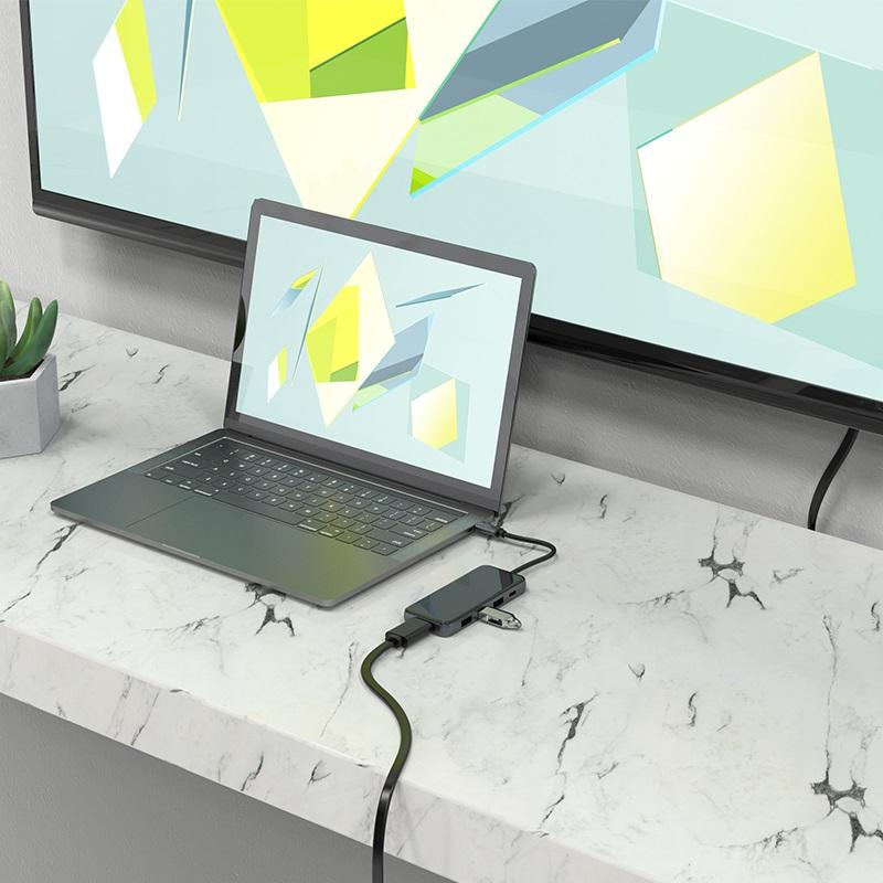 hoco hb15 easy show type c adapter laptop
