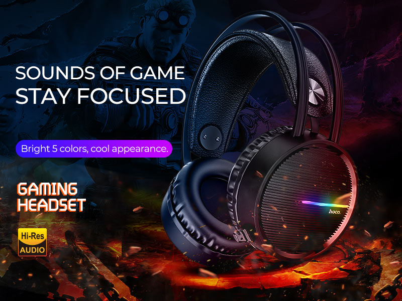 hoco news w100 touring gaming headset banner en