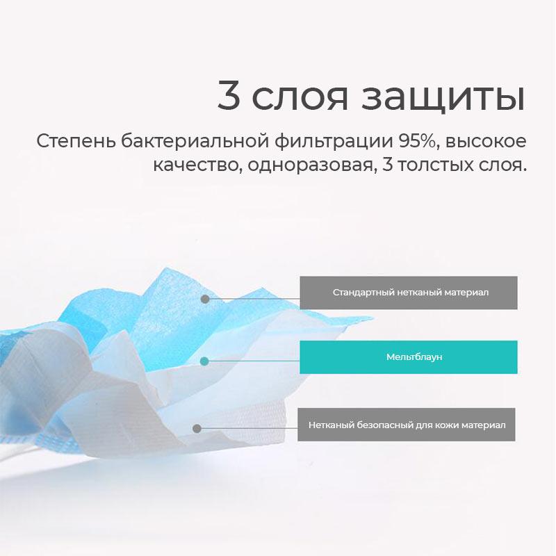 hoco детская одноразовая защитная маска 50шт слои ru