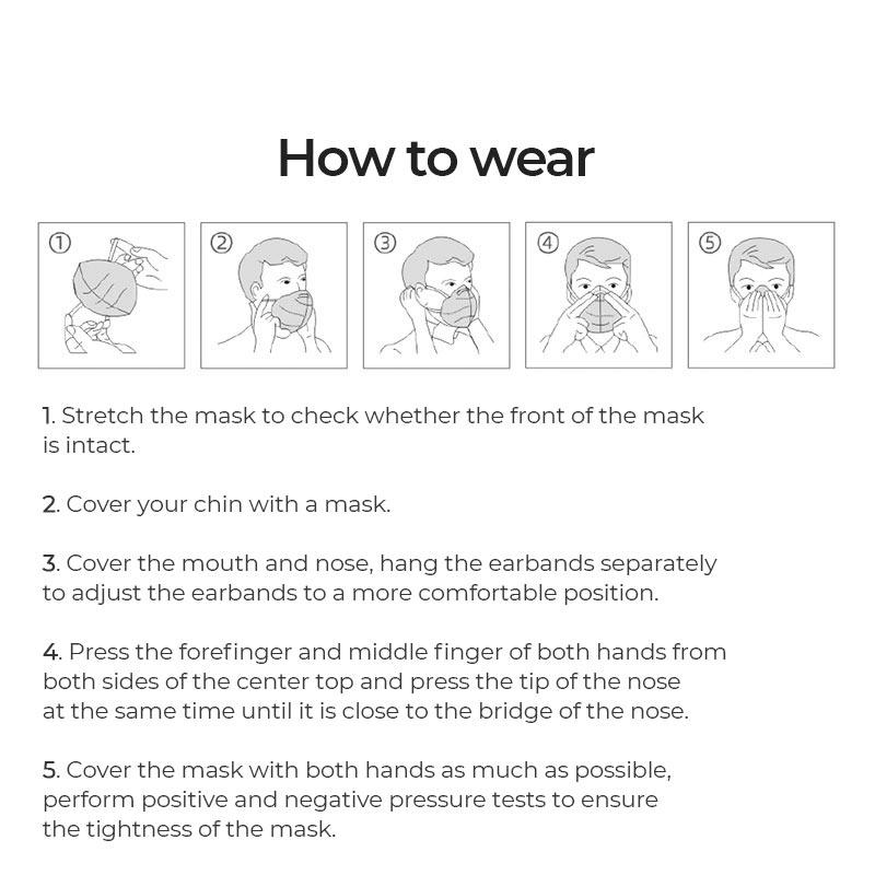 hoco kn95 efficient protective mask children manual en