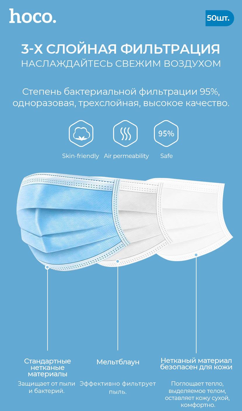 hoco новости одноразовая защитная маска слои ru