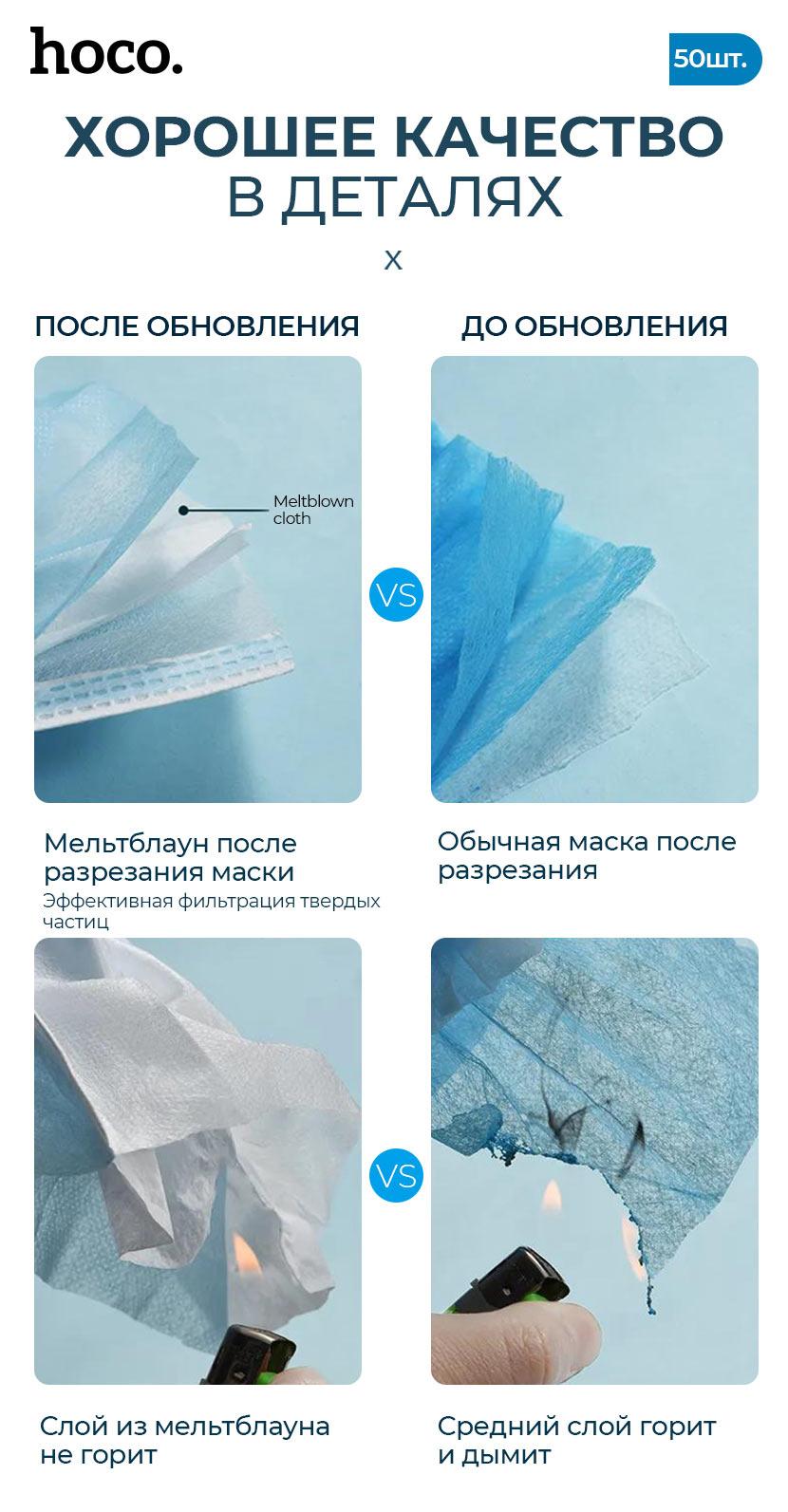 hoco новости одноразовая защитная маска качество ru