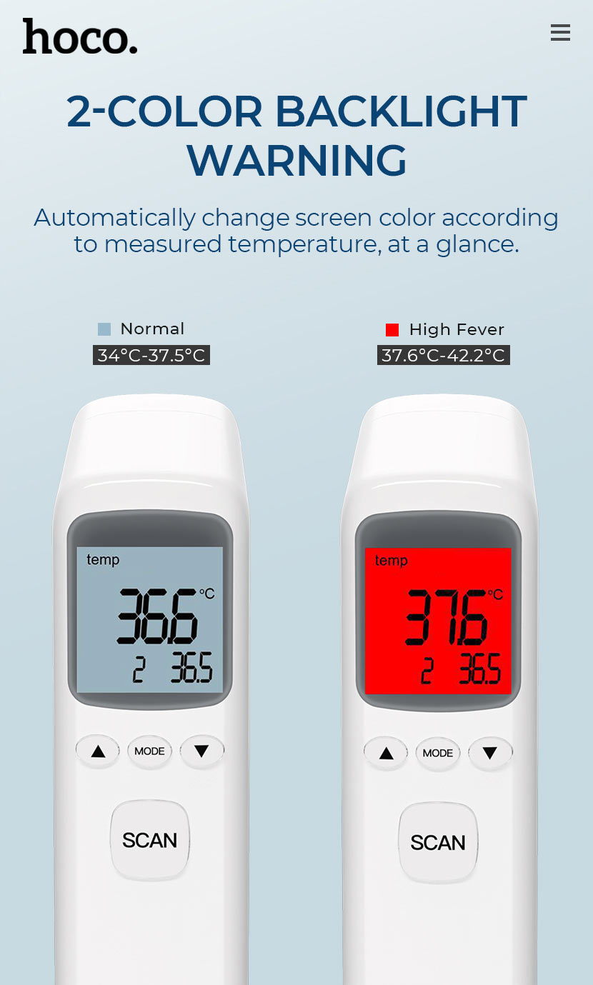 hoco news ys et03 non contact infrared thermometer backlight en