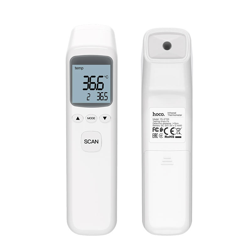 hoco ys et03 non contact infrared thermometer front back