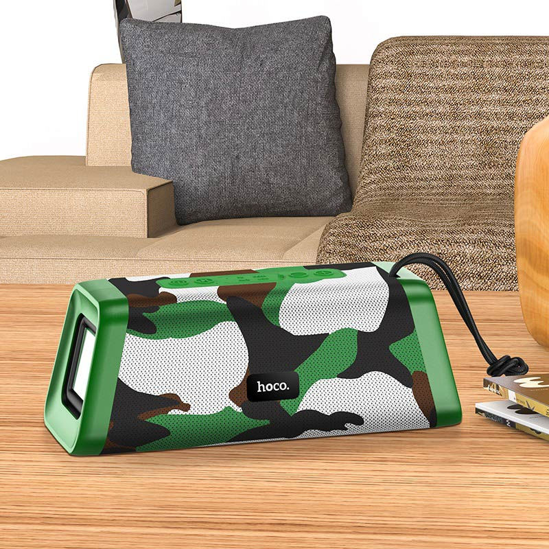 hoco bs35 classic sound sports wireless speaker interior camouflage green