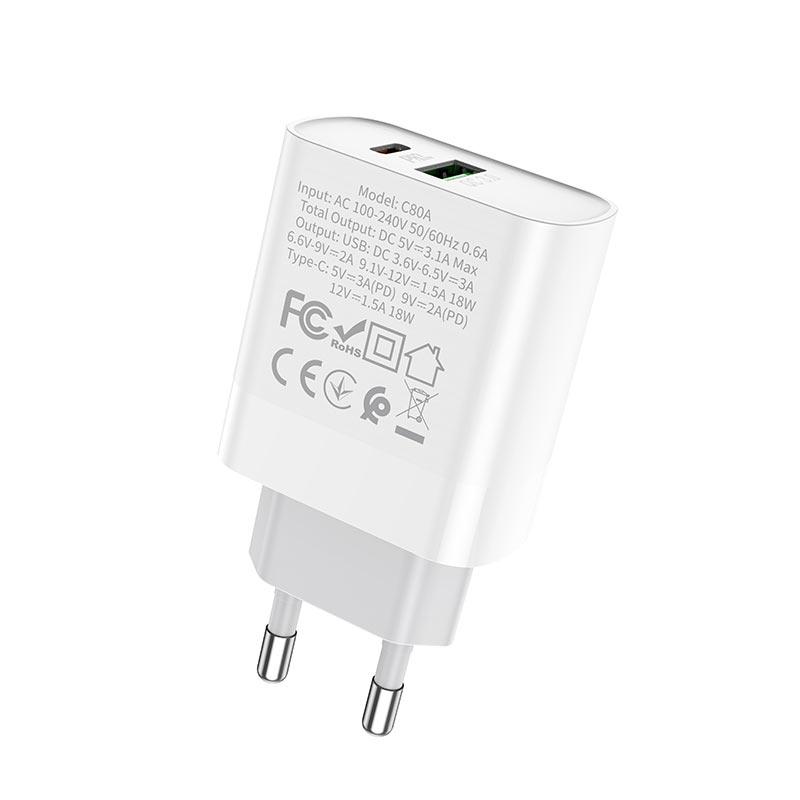 浩酷 c80a 迅泰 pd qc3 充电器 eu 规格