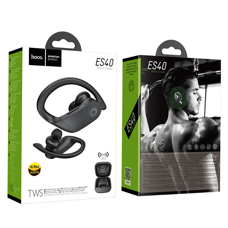 hoco es40 genial tws wireless headset package