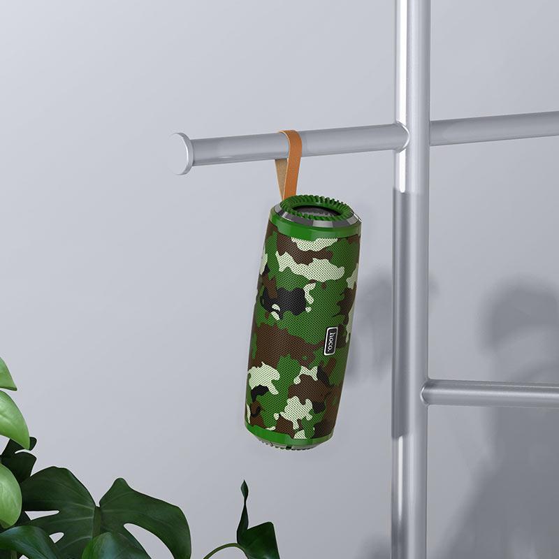 hoco bs38 cool freedom sports wireless speaker interior camouflage  11green