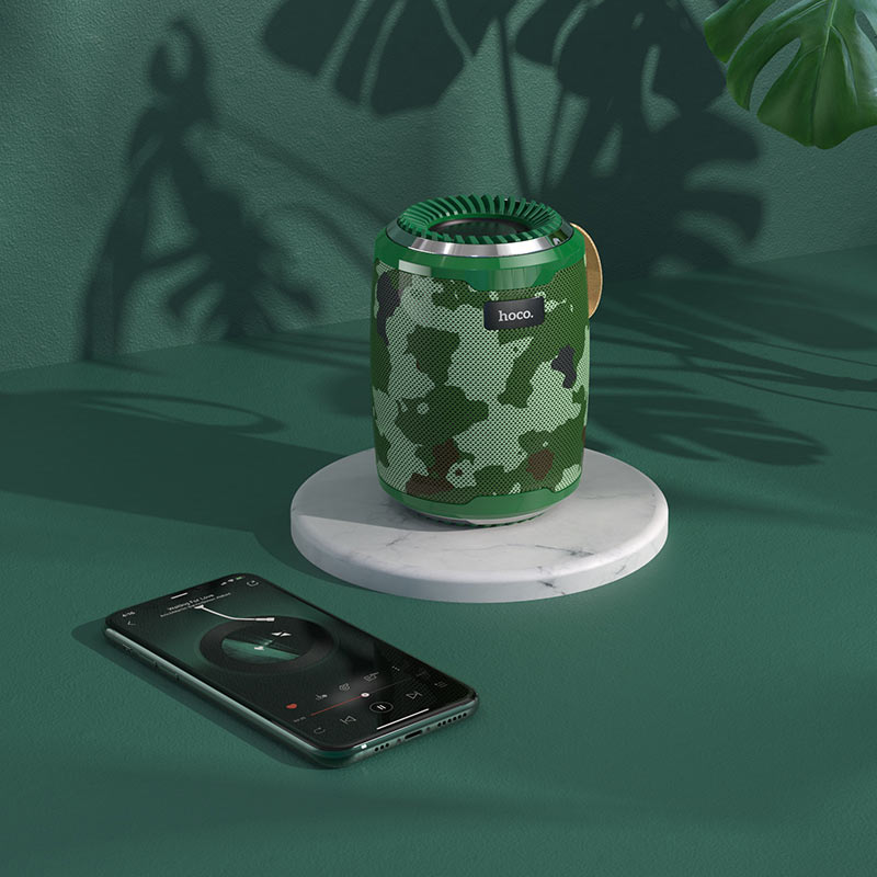 hoco bs39 cool freedom sports wireless speaker interior camouflage green