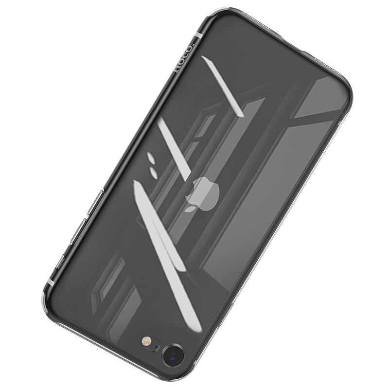 hoco crystal clear series tpu protective case for iphone se 8 7 clear
