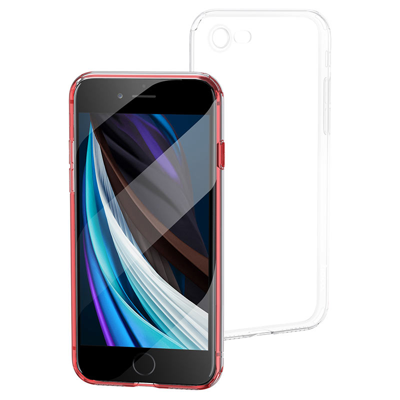 hoco crystal clear series tpu protective case for iphone se 8 7 protection