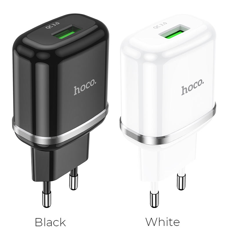 hoco n3 special single port qc3 wall charger eu colors