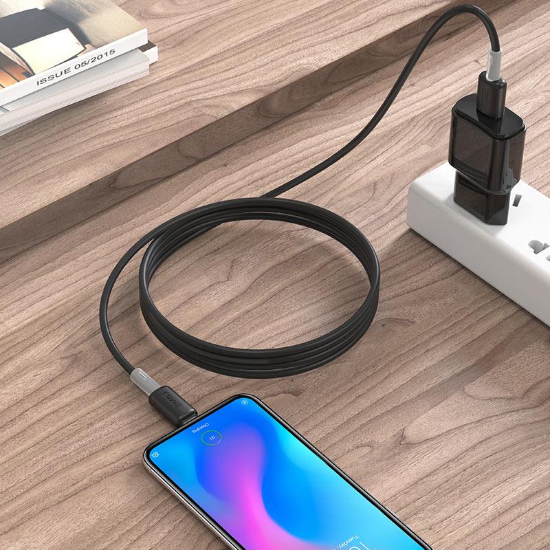 hoco x48 мягкий силиконовый зарядный кабель для передачи данных для micro usb черный интерьер