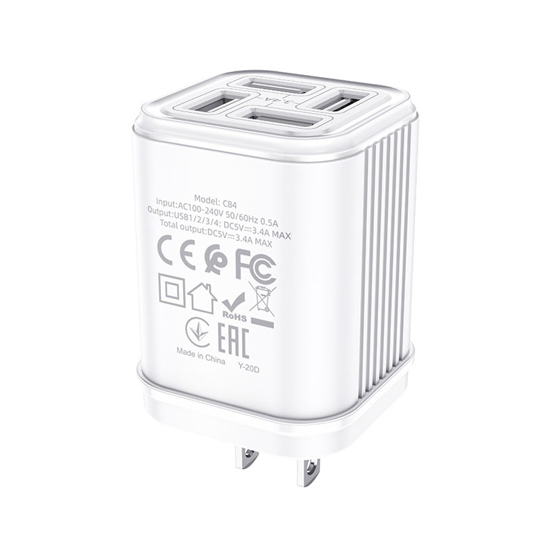 hoco c84 resolute four port wall charger us certification
