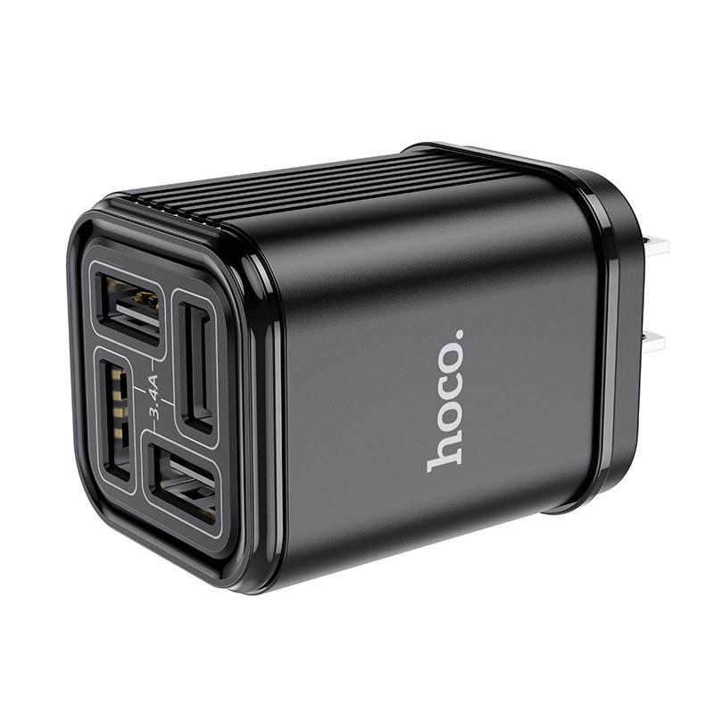 hoco c84 resolute four port wall charger us ports