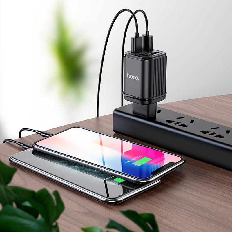 hoco c84a resolute four port wall charger eu charging