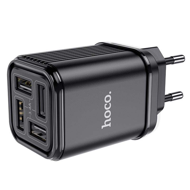 hoco c84a resolute four port wall charger eu ports