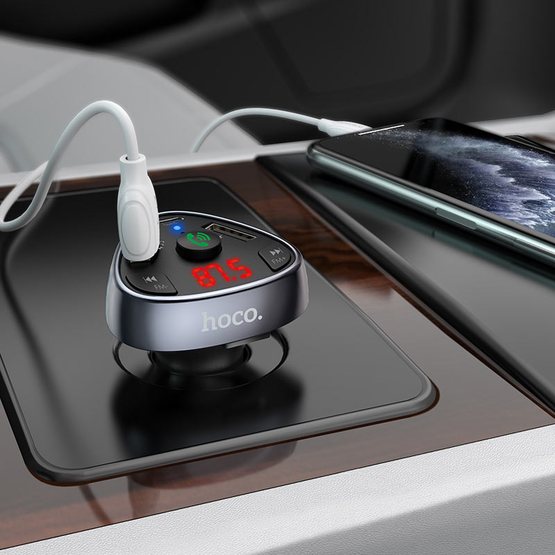 hoco e51 road treasure car bt fm transmitter charging