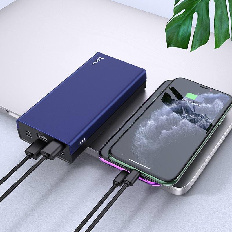 hoco j66a fountain power bank 20000mah charging